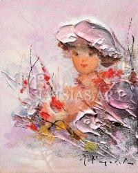 kopela me roz kapelo