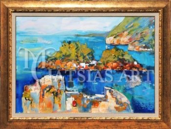 THE ISLET OF PANAGIA PARGA 122Χ92 AUTHENTIC BOARD